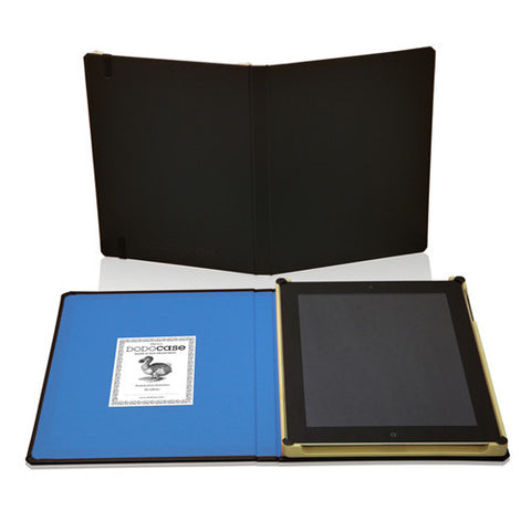 DODOCases Classic Black for iPad 2/3 (Sky Blue Interior)