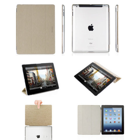 COVERMATE Hardshell Clear Cases/Detachable Cover iPad 3 Tan