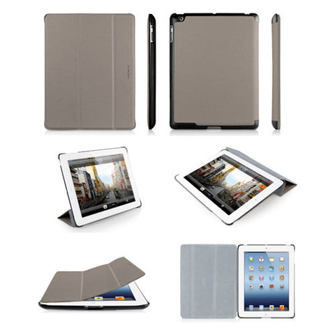 BOOKSTAND3 Protective Cases/Stand for iPad 3 - Gray