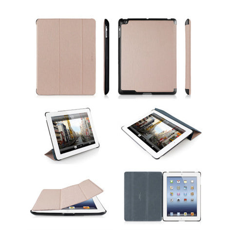 BOOKSTAND3 Protective Cases Stand for iPad 3 - Pink/Gray