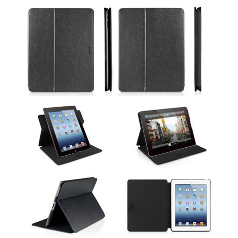 SHELLSTAND3 Rotating Folio Cases for iPad 3 - Black