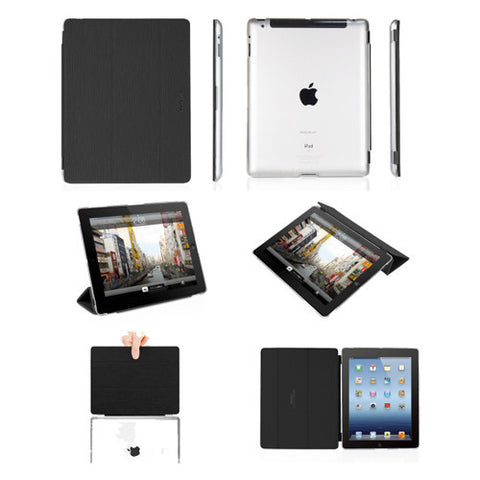 COVERMATE Hardshell Clear Cases/Detachable Cover iPad 3 Black