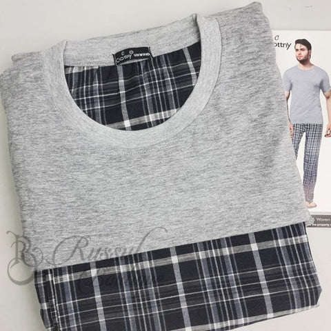 Cottny Mens Pyjamas Set | Light Grey Pyjamas