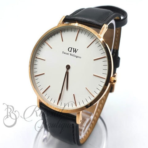 Dw Classic Leather Watch | Black Watch