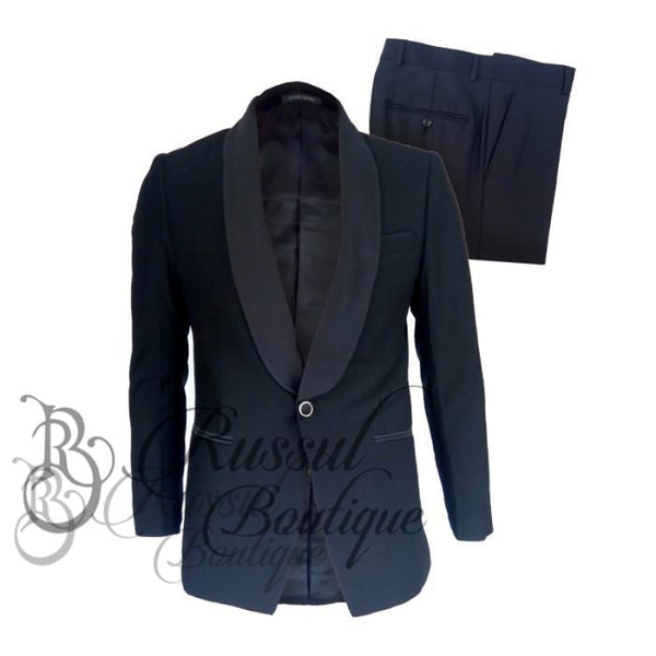 Mens Tuxedo With Single Button |Black