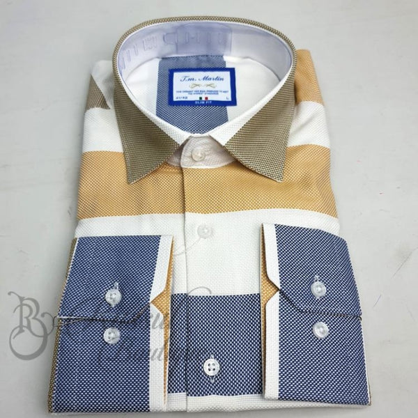 Tm Martin Mens Woven Shirt | Brown/blue Shirts