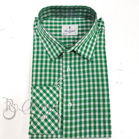 Tom Carlos Corporate Check Shirt | Green Shirts