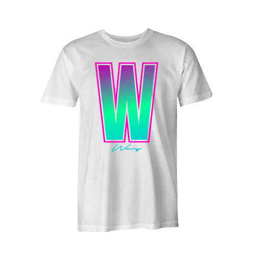 NEON W TEE WHT YOUTH - SHOP WAVY
