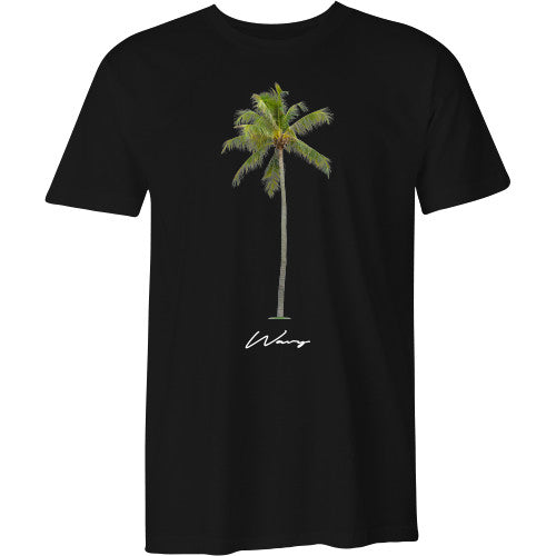 Palm tee black - SHOP WAVY