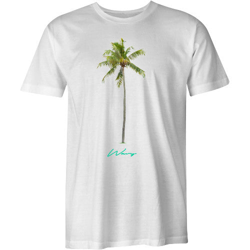 Palm tee white - SHOP WAVY