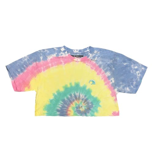 Womens Tie Dye Short Sleeve Crop Tee - SHOP WAVY