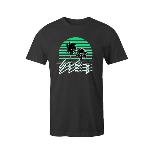 SUNSET TEE BLK YOUTH - SHOP WAVY