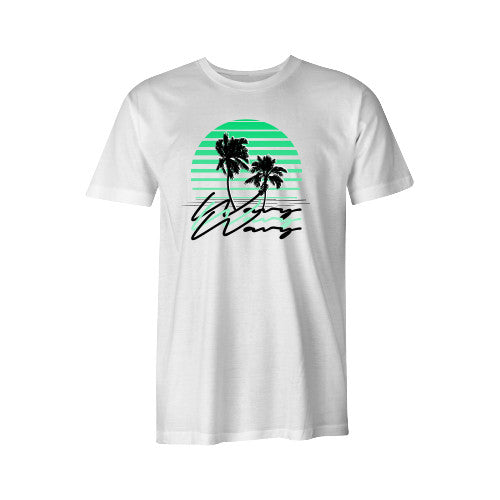 SUNSET TEE WHT YOUTH - SHOP WAVY