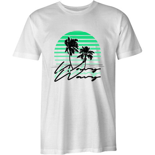 Sunset tee white - SHOP WAVY