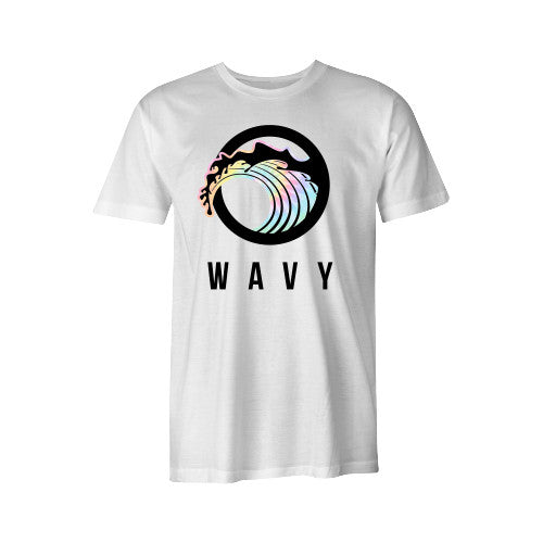 TIE DYE WAVE TEE WHT YOUTH