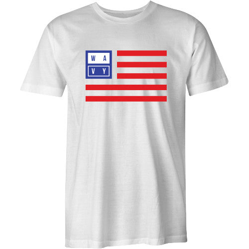 Wavy flag tee white - SHOP WAVY