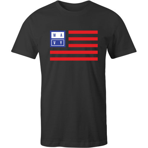 Wavy flag tee black - SHOP WAVY