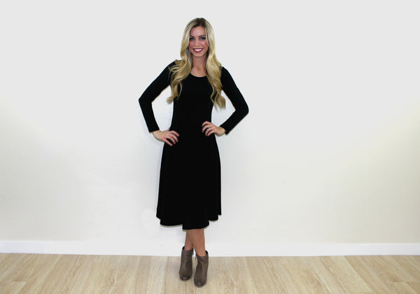 The Braylee Dress in Black