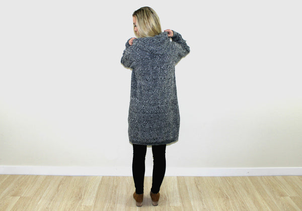 The Charcoal Button Up Cardigan