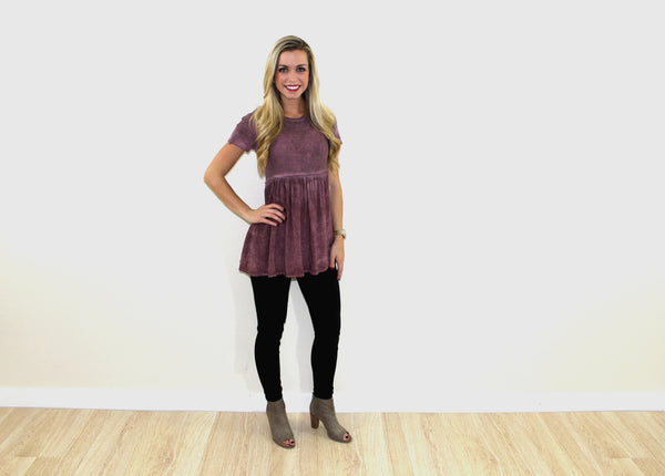 The Dusty Plum Blouse