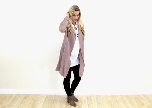 The Dusty Pink Trench Coat