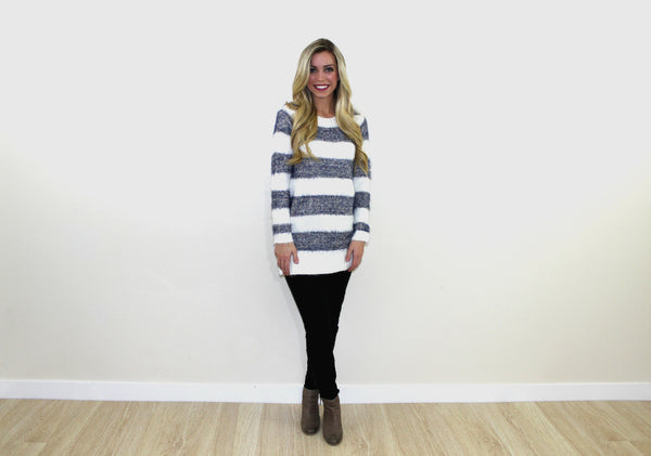 Stella Stripped Tunic Sweater
