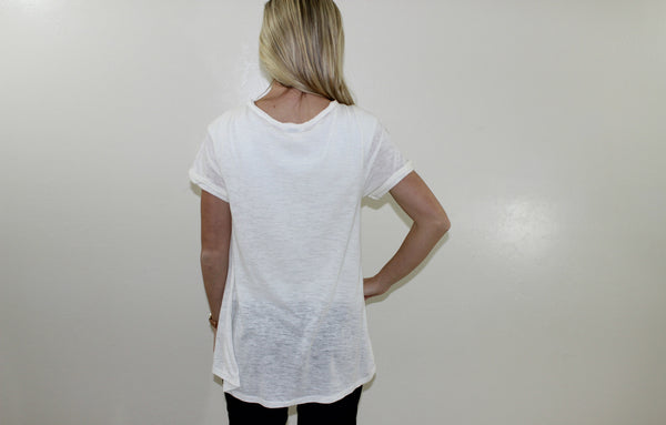 The Hayden Basic Tee in Ivory