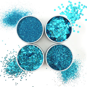 EcoStardust Blue Biodegradable Glitter - All Sizes - EcoStardust