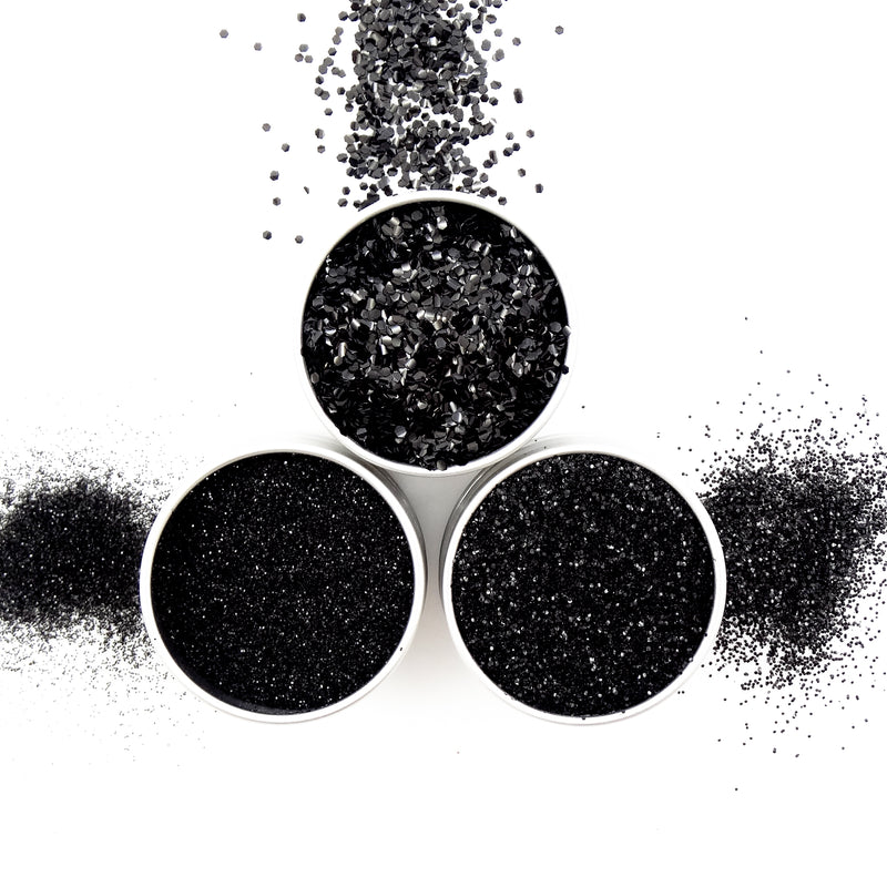 EcoStardust Black Biodegradable Glitter - All Sizes - EcoStardust