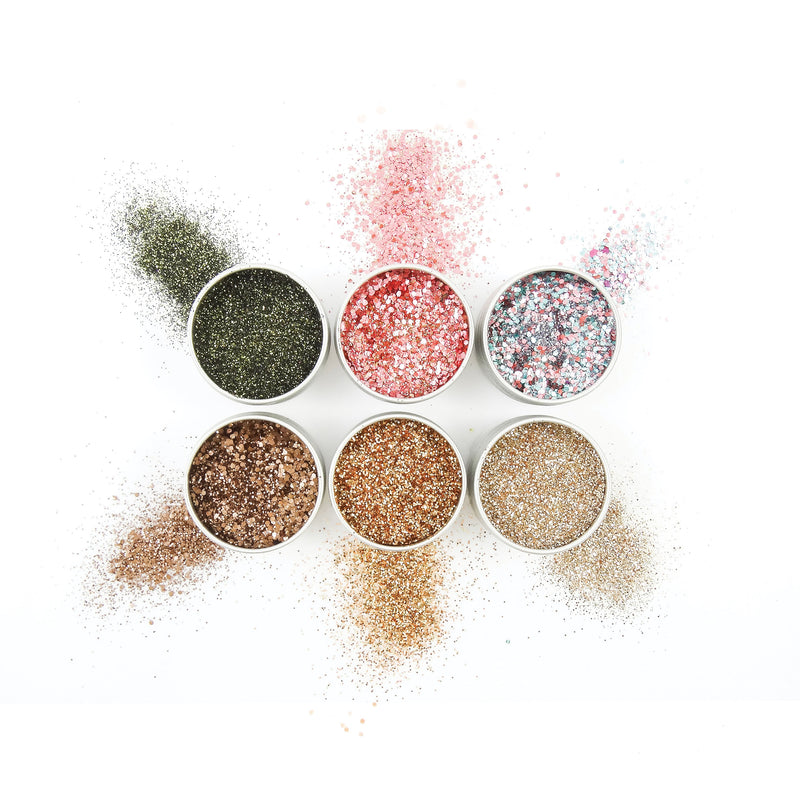 EcoStardust Desk To Disco Biodegradable Glitter Bundle - x6 Tins! - EcoStardust