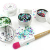 EcoStardust Festival Favourites Biodegradable Trio-Glitter, Balm, Brush Set - EcoStardust