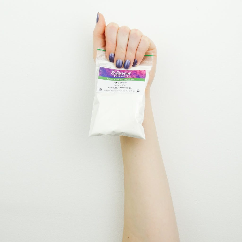 EcoStardust White Biodegradable Glitter - All Sizes - EcoStardust