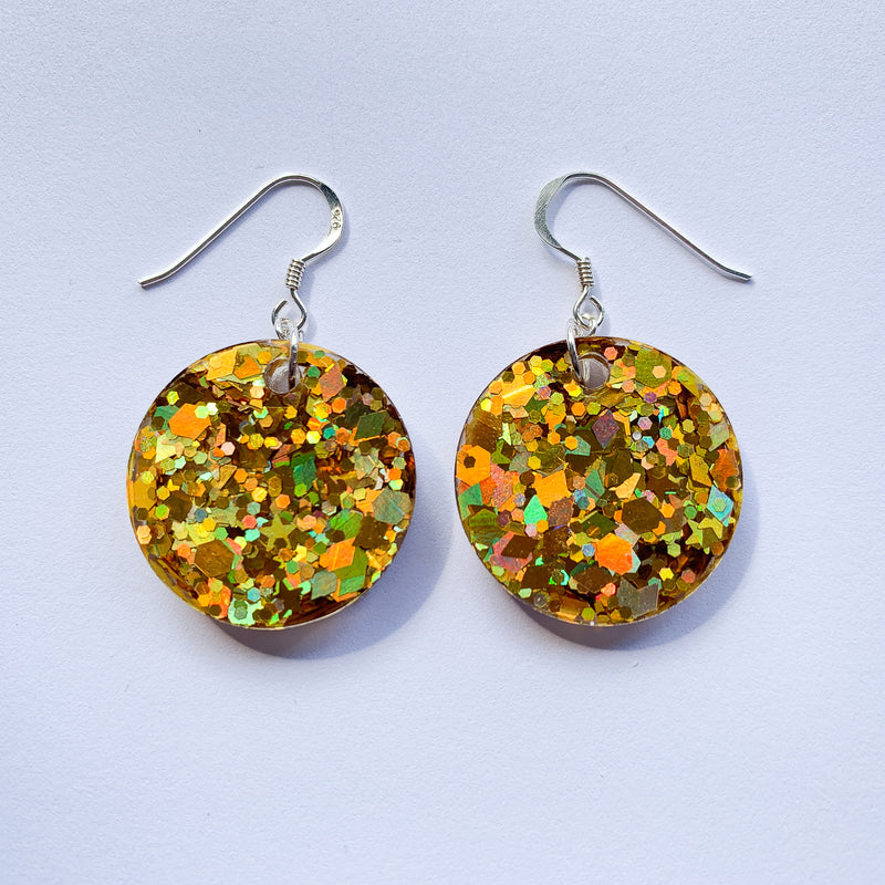 EcoStardust Amnesty Glitter Earrings - Gold Mini Disco Balls