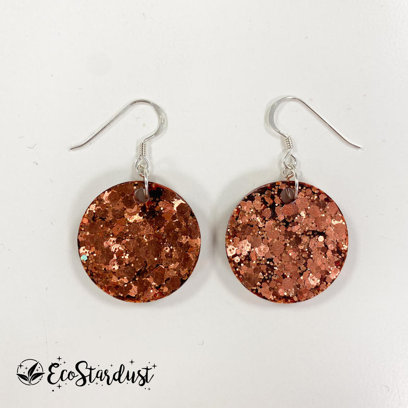 EcoStardust Amnesty Glitter Earrings - Mini Copper Glitter Circles