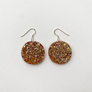 EcoStardust Amnesty Glitter Earrings -  Rose Gold Glitter Circles