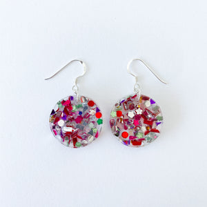 EcoStardust Amnesty Glitter Earrings - Mini Confetti Circles