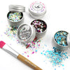 EcoStardust Out of this World Biodegradable Trio-Glitter, Balm, Brush Set - EcoStardust