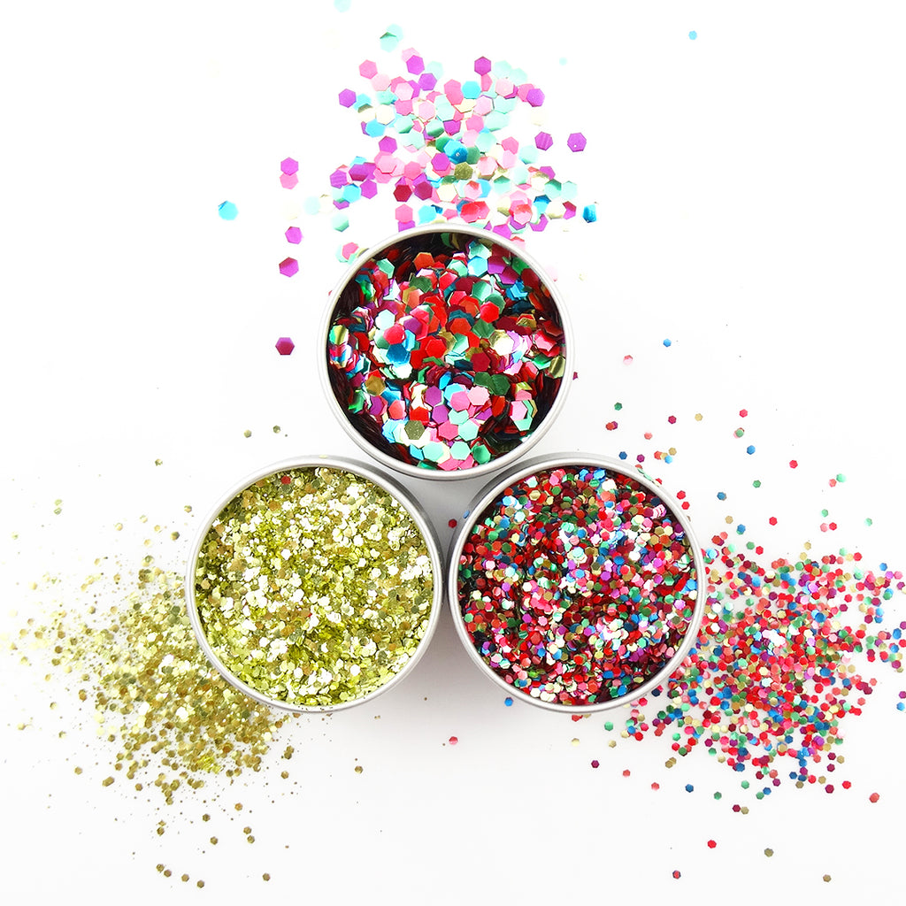 EcoStardust Pride Party Biodegradable Trio Glitter, Balm and Brush Set - EcoStardust