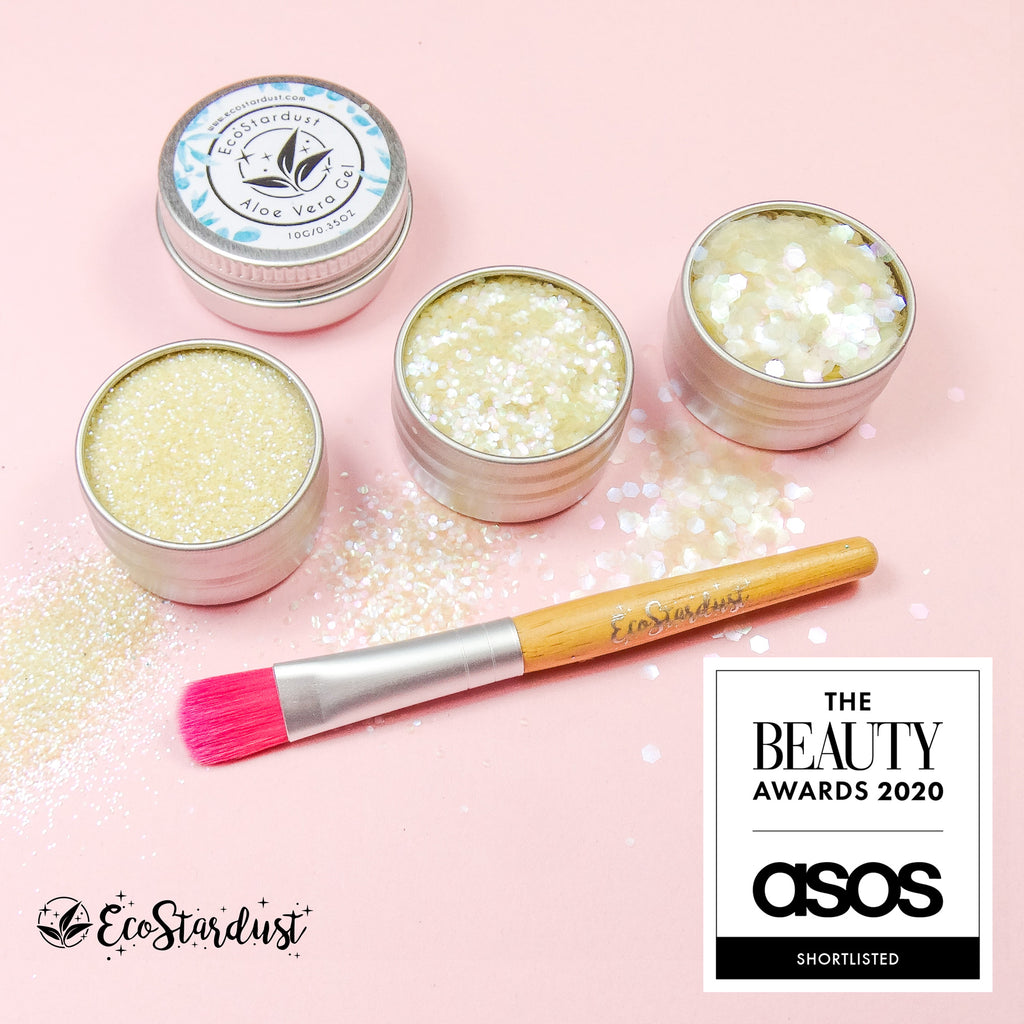 EcoStardust Sherbet Biodegradable Trio-Glitter, Gel, Brush Set - EcoStardust