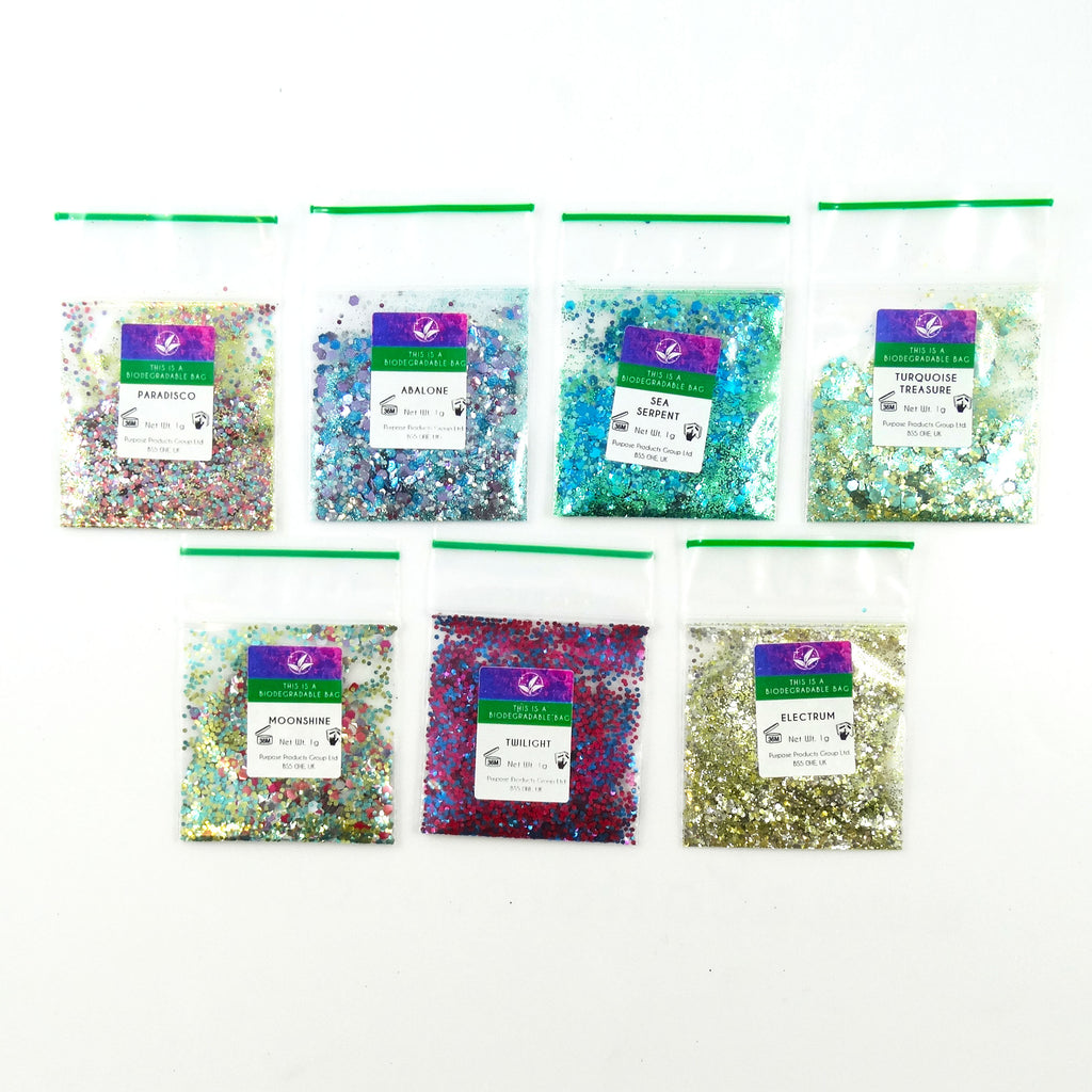 EcoStardust Party Season Sample Pack - 1g x 7 - EcoStardust