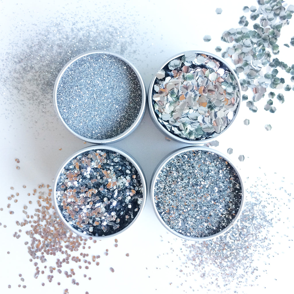 EcoStardust Silver Biodegradable Glitter - All Sizes - EcoStardust
