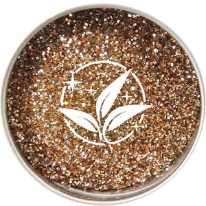 EcoStardust Golden Glow Biodegradable Trio-Glitter, Balm, Brush Set - EcoStardust
