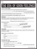 Era of Good Feelings Notes