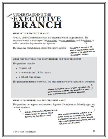 Executive Branch Notes