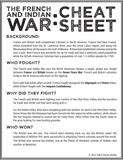 French and Indian War Cheat Sheet