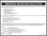 Industrial Revolution Sales Pitch