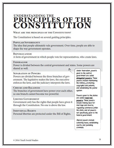 Principles of the Constitution Notes