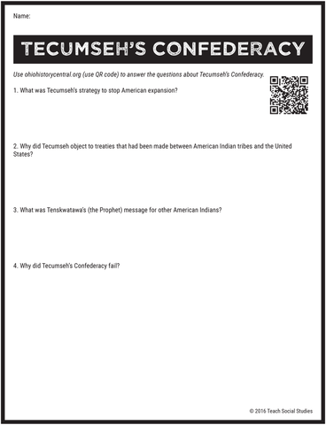 Tecumseh's Confederacy Notes