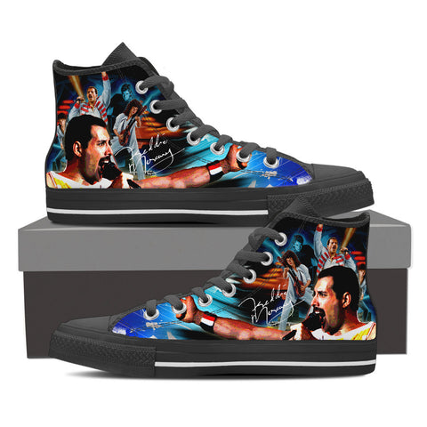 Freddie Mercury High Top Canvas Shoe