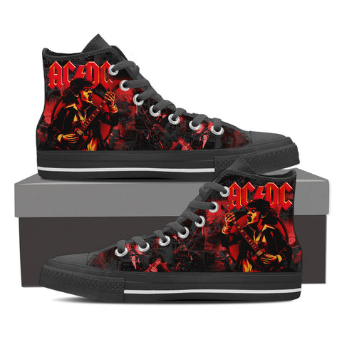 AC/DC High Top Canvas Shoe